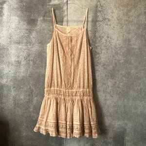 Surf Gypsy Dresses - Surf Gypsy Lace Up Eyelet Dress Cover Up Beach